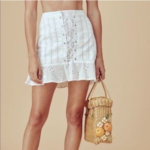 0ee4f408675f For Love And Lemons Skirts - For Love And Lemons Hermosa Eyelet Mini Skirt